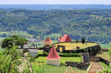 Riegersburg Castle above the town of Riegersburg in Styria, Austria