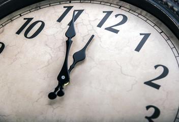 Ancient wall clock .