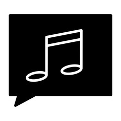 Music note silhouette icon. Vector pictogram