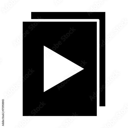 96x96icon audio or video files with play button silhouette icon rh fotolia com video icon vector free download video icon vector free download