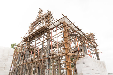 Structure of building under construction.