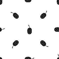 Fruit of mulberry pattern seamless black