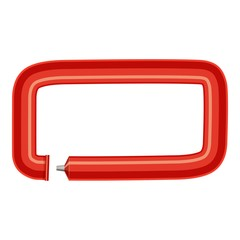 Sign dash plastic tube icon, cartoon style