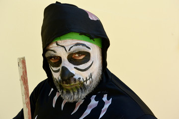 Frankenstein monster  is coming for Halloween party..