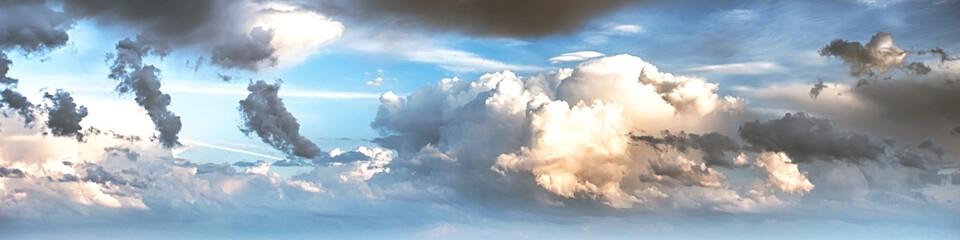 Aluminium Prints Heaven Sky clouds art sunrise background