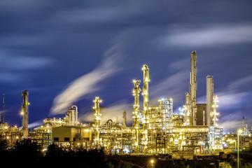 Oil refinery / petrochemical industry night scene