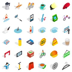 Camera icons set, isometric style
