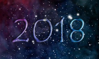 2018 New Year cosmic design