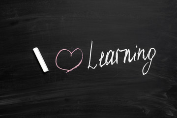 Learning Concept on chalkboard
