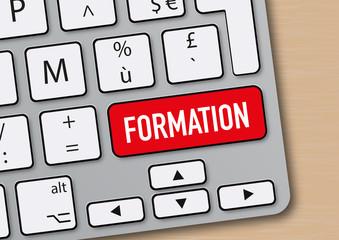 formation - entreprise - apprentissage - emploi -clavier d'ordinateur - internet
