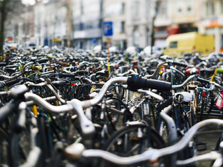 Huge parking for bicycles
