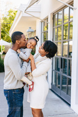 Candid joy of a family's love for one another.