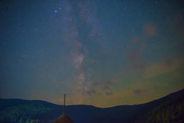 The Milky Way on night sky