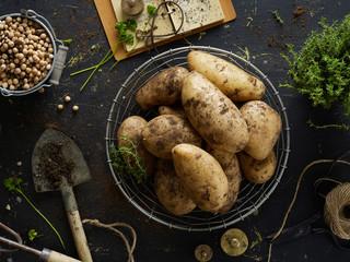 Home grew potatoes