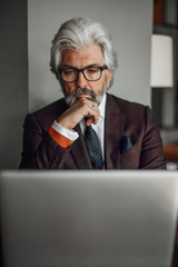Businessman Sitting in a Cafe