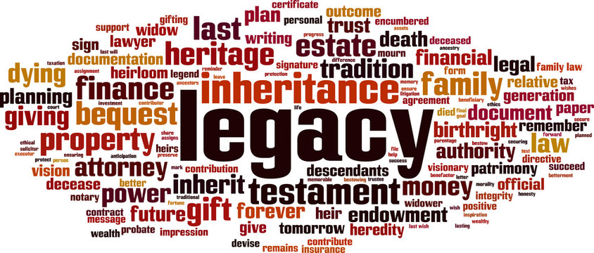 Legacy word cloud