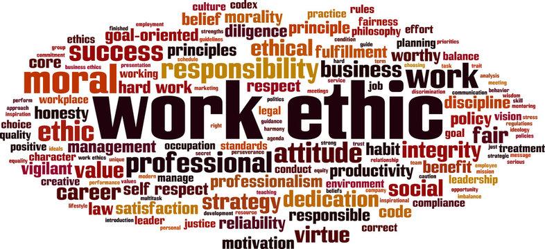 Work ethics word cloud