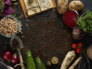 Home grew vegetables