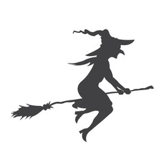 Halloween witch glyph icon, halloween and scary