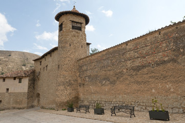 Medieval walls of Mirambel in the Maestrazgo, Teruel, Spain