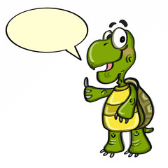 cute turtle illustrations cartoon and speaking