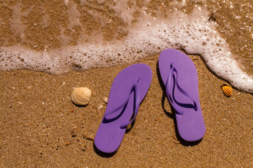 Flip Flops in the water