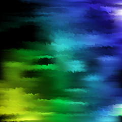 Abstract smooth soft focus swirl background design. Blue, green, black colors.