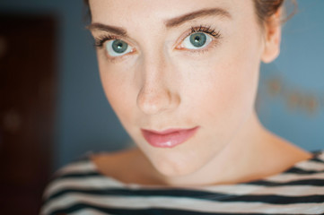 A portrait of a woman in her twenties