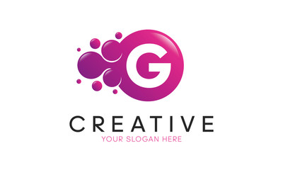 Dots Letter G Logo. G Letter Design Vector with Dots.