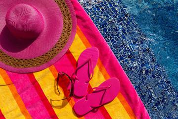 Flip Flops by the Pool