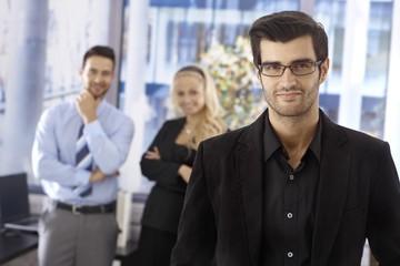 Closeup portrait of elegant businessman