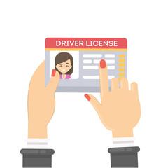 Woman's driver license.