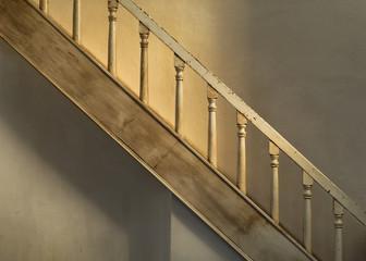 Stairs inside the San Elizario Presidio Chapel in San Elizario, Texas