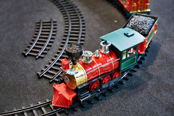 Toy train and childrens railway