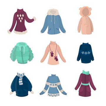 Winter clothes set.