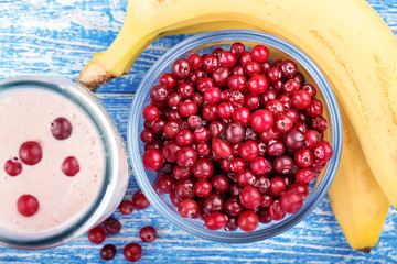 cranberry and banana smoothie