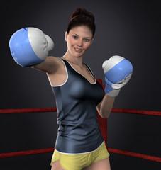 Beautiful Young Boxer Girl Pose