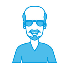 Man with sunglasses icon vector illustration graphic design