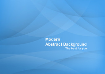 Abstract blue curve background with copy space.