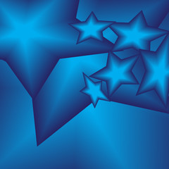 Bright stars on a blue background