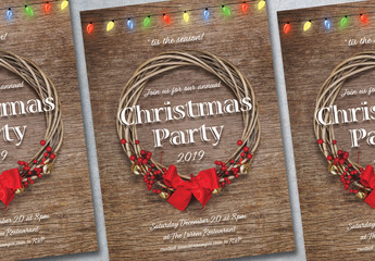 Christmas Party Poster Layout 1