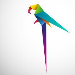 papuga origami wektor