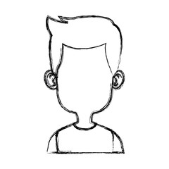 Boy faceless cartoon icon vector illustration graphic design