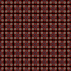 ethnic seamless pattern background in brown and red colors