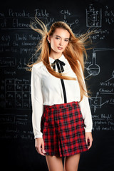 blonde student girl