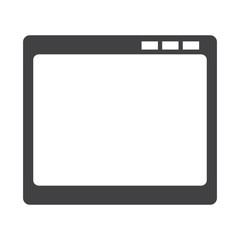 Isolated empty window screen on a white background, Techology vector illustration
