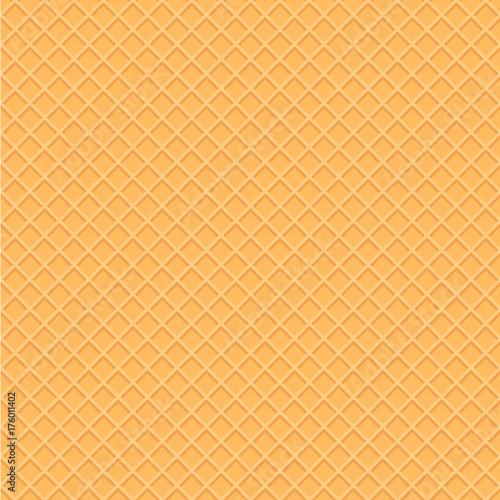 "Seamless Ice Cream Background Vintage Style: ""Wafer Style Seamless Pattern Background. Illustration Of"
