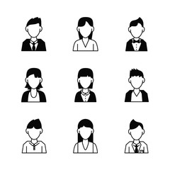 People avatar icons icon vector illustration graphic design