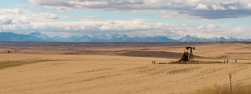 Lone Oil Well in Montana