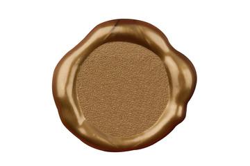 golden wax blank seal